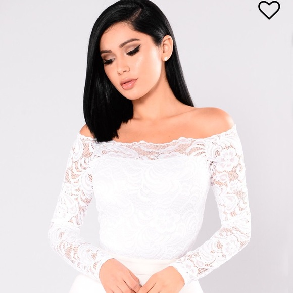 c58393aaa9b47 Fashion Nova Tops - White lace